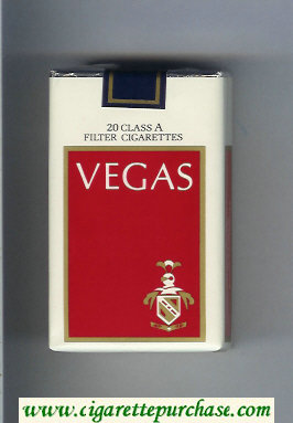 Vegas Cigarettes white and red soft box