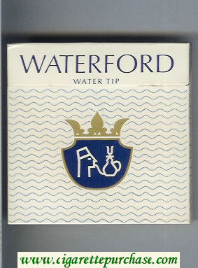 Waterford Water Tip cigarettes wide flat hard box