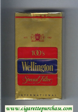 Wellington Special Filter 100s cigarettes soft box