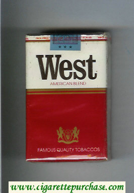 West American Blend cigarettes soft box