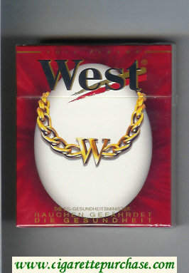 West 'R' 25s Full Flavor cigarettes hard box
