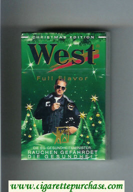 West 'R' Christman Edition Full Flavor cigarettes hard box