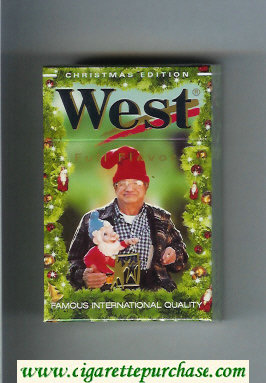 West 'R' 20 Full Flavor Christman Edition cigarettes hard box