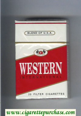 Western International cigarettes hard box