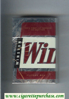 Winston Filters cigarettes hard box