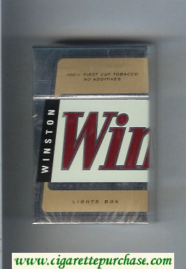 Winston Lights cigarettes hard box