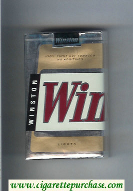 Winston Lights cigarettes soft box