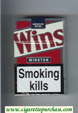 Winston American Blend cigarettes white and red hard box