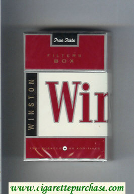 Winston Filters Box cigarettes hard box