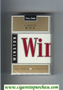 Winston Lights Box cigarettes hard box