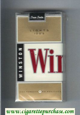 Winston Lights 100s cigarettes soft box