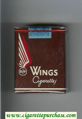 Wings BandW Cigarettes brown soft box