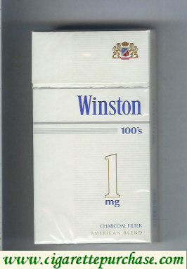 Winston Charcoal Filter 1 mg 100s cigarettes hard box