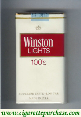 Winston Lights white and red 100s cigarettes soft box
