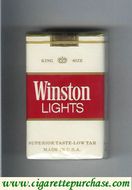 Winston Lights white and red cigarettes soft box