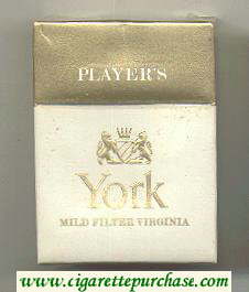 York by Player's cigarettes hard box