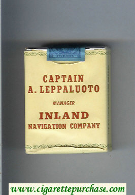 Captain A.Leppaluoto Manager Inland Navigation Company cigarettes soft box