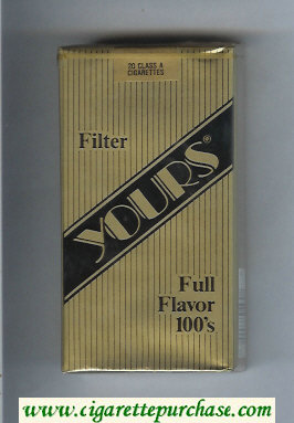 Yours 'R' Full Flavor 100s cigarettes gold and black soft box