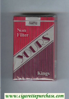 Yours 'R' Non Filter cigarettes red and silver and dark red soft box