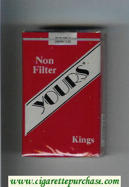 Yours 'R' Non Filter cigarettes red and silver soft box