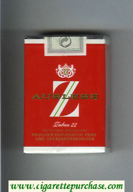 Z Auslese cigarettes soft box